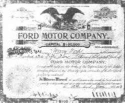 亨利·福特成立汽车公司